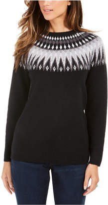 Style&Co. Style & Co Petite Fair Isle Crewneck Sweater