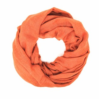 Me Plus Women Cotton Solid Soft Light Weight Loop Circle Neck Wrap Infinity Scarf - black - One Size