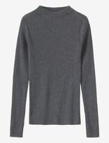 Toast Ribbed Merino High Neck Sweater