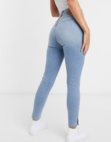 Levi's mile high shaping effect skinny jean in light wash blue