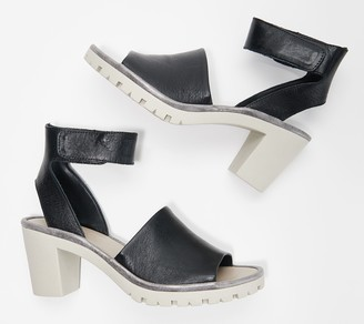 The Flexx Leather Ankle Strap Heeled Sandals - Big Enough