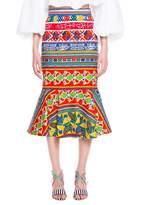Stella Jean Gonna Con Blaza Skirt In Passamanerie