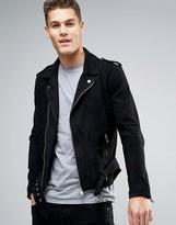 Selected Suede Biker Jacket