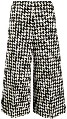 Gucci Houndstooth Print Cropped Trousers