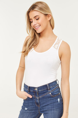 Ardene ME to WE Basic Racerback Tank Top with Lace