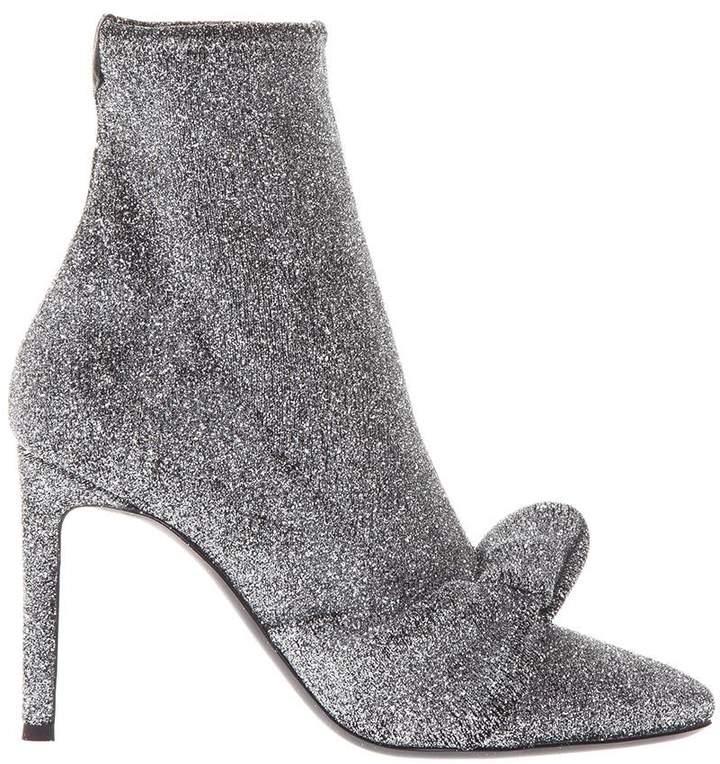 Giuseppe Zanotti Ophelia Lurex Fabric Ankle Boots