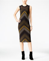 Rachel Roy Illusion Printed Sweater Dress