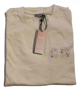 Christian Dior White Cotton T-shirts