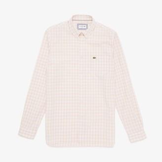 Lacoste Men's Slim Fit Long-Sleeve Wool Shirt