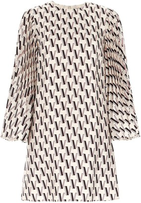 Valentino VLogo Printed Shift Dress