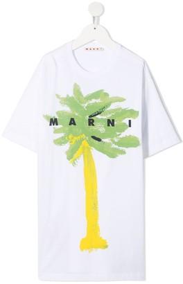 Marni palm tree print T-shirt dress