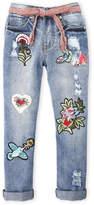 Hannah Banana Girls 7-16) Patch Jeans