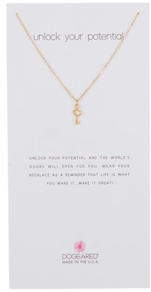 Dogeared Unlock Your Potential Key Pendant Necklace