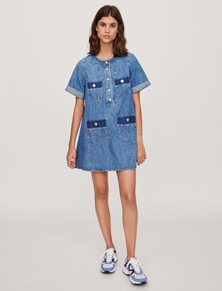 Maje Short jean dress with short sleeves