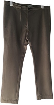 Issey Miyake Brown Polyester Trousers