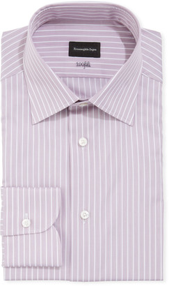 Ermenegildo Zegna Men's 100fili Striped Cotton Regular-Fit Dress Shirt
