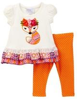 Iris & Ivy Fox Knit Set (Baby Girls)