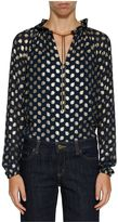 MICHAEL Michael Kors Gold-tone Embroidered Shirt