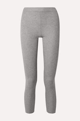Handvaerk - Ribbed Pima Cotton And Alpaca-blend Leggings - Gray