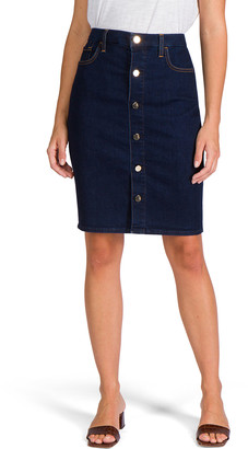 JEN7 by 7 For All Mankind Button-Front Denim Pencil Skirt