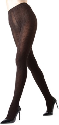 Me Moi Memoi Cable-Knit Sweater Tights