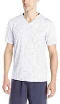 Calvin Klein Men's All Over Print Mesh V-Neck T-Shirt