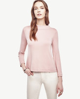 Ann Taylor Ponte Mock Neck Top