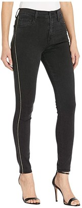 J Brand Leenah High-Rise Skinny in Provocative Gold Braid (Provocative Gold Braid) Women's Jeans