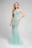 Terani Prom - Grandiose Shimmering Illusion Neck Mermaid Gown 1711P2591