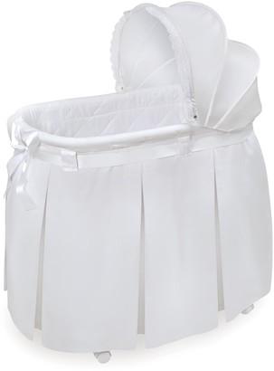Badger Basket Wishes Oval Bassinet & Full Length Skirt
