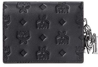 MCM Mini Klara Monogram Leather Wallet-On-Chain