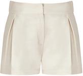 Ivory Silk Jute Shorts