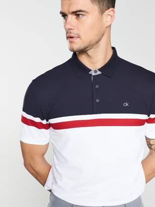 Calvin Klein Golf Pendant Tech Polo - White/Navy