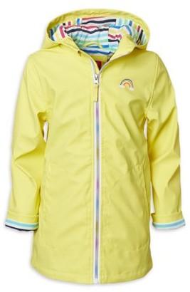 Pink Platinum Baby & Toddler Girls Rainbow Lined Raincoat Jacket (Sizes 12M-4T)