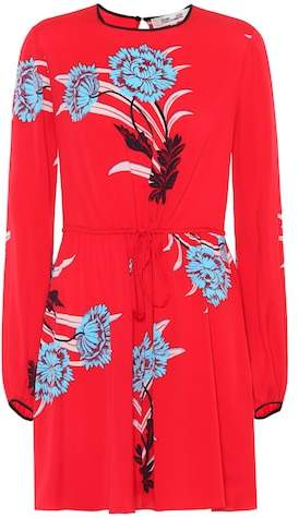 Diane von Furstenberg Printed stretch-silk minidress