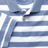 Charles Tyrwhitt Sky blue and white stripe pique polo