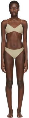 Oseree SSENSE Exclusive Beige Slip Bikini