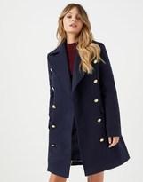 navy military coat - ShopStyle UK