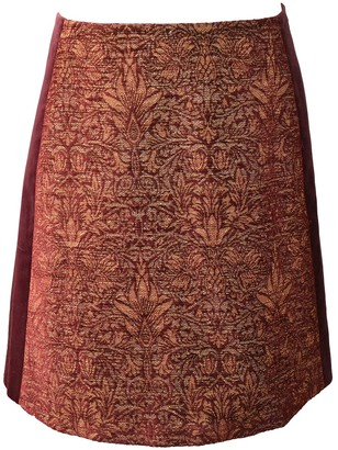 Alberta Ferretti Burgundy Cotton Skirt for Women