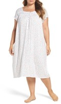Eileen West Plus Size Women's Waltz Nightgown