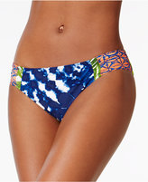 LaBlanca La Blanca Island Mix Printed Shirred Hipster Bottoms