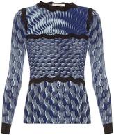 Mary Katrantzou Rosalba long-sleeved knitted top