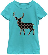Fifth Sun Tahi Blue Floral Deer Tee - Toddler & Girls