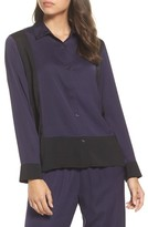 DKNY Women's Colorblock Washed Satin Top