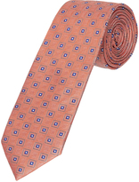 Oxford Silk Tie Dmnd Reg Orange X
