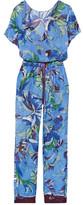 Emilio Pucci Printed Cotton-voile Jumpsuit - Blue