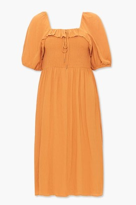 Forever 21 Plus Size Smocked Peasant Dress