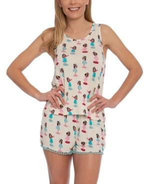 Munki Munki Nite Nite Hula Girl Tank & Shorts Pajama Set, Online Only