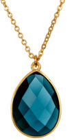 Melinda Maria Milton London Blue Topaz Teardrop Pendant Necklace