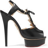 Charlotte Olympia Deco Maxine lace-up cutout leather sandals